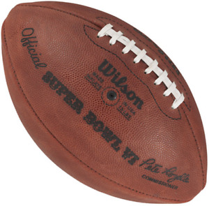 SUPER BOWL VI 6 Authentic Wilson NFL Game Football - DALLAS COWBOYS