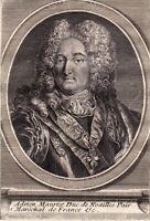 Portrait XVIIIe Adrien Maurice de Noailles Marquis Montclar Maréchal 1786