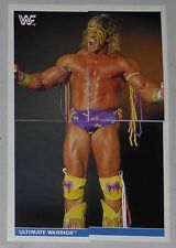 Ultimate Warrior WWF 1991 Euroflash Superstars Stickers Card Set 47 48 49 50 WWE