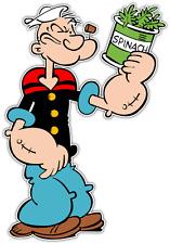 "Popeye the Sailor Man Kids Cartoon Car Bumper Window Locker Sticker Decal 3.8X5"""