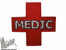ill Gear  RED MEDIC Cross MEDICAL PARAMEDIC PATCH EMT RED HOOK & LOOP