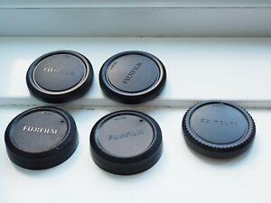 3x Camera Body +  2x Rear Lens Cap Cover Fujifilm Fuji FX X Mount