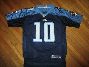 VINCE YOUNG TENNESSEE TITANS FOOTBALL JERSEY Reebok NFL Blue YOUTH LARGE