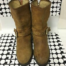 Womens Michael Brown Suede Mid Calf Boots Sz 10M