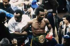 Old Boxing Photo Sugar Ray Leonard Leaves The Ring With His Belt