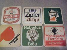 EIGHT  !!! Assorted European Beer Coasters
