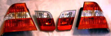 BMW E46 1999-2001 Sedan OEM European Clear Taillights 4 Piece 2002 Facelift Kit