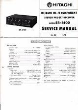 Manuel de reparation pour Hitachi SR-6100