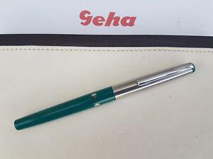 """GEHA 711 """"A"""" grün Füllhalter Schulfüller Füller 70er / 80er Vintage"""