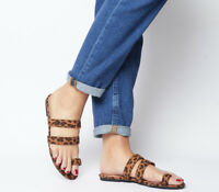 Womens Office Selfie Toe Loop Sandals Leopard Sandals