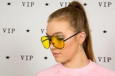 Rare oversized vintage yellow tinted aviator sunglasses Napier N3000