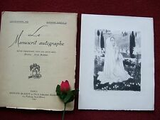 LE MANUSCRIT AUTOGRAPHE : N° 19 . 1929 avec  Litho originale  de MAURICE DENIS