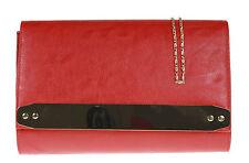 Faux Leather Oversized Clutch Bag Designer Women Bag Studs Events Vintage Colors