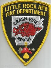 "Little Rock A.F.B.  C.F.R., AR   (3"" x 4"" size)   fire patch"