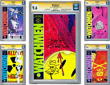 WATCHMEN #1-12 CGC-SS NM  *ALL 12* ISSUES SIGNED BY ARTIST DAVE GIBBONS 1986