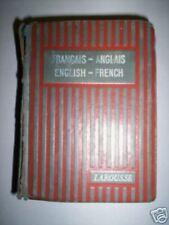 DICTIONNAIRE LAROUSSE FRANCAIS ANGLAIS 1928