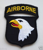 *** 101st AIRBORNE ***  Military Veteran US ARMY Patch PM0097 EE