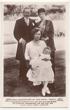 Royalty; Four Generations Of Our Royal Family George V RP PPC By Beagles, 855V