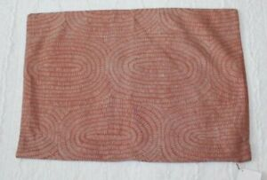 Crate & Barrel Orange Jacquard Silk Pillow Cover NWT 15x22