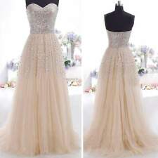 WOMENS SEQUINS LONG FORMAL PROM WEDDING PARTY BALL GOWN EVENING BRIDESMAID DRESS