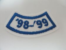 Girl Scout Patch Year '98-'99 Blue White GSA