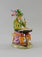 9997053 Porzellan-Figur Bettler-Musikant mit Zither Ernst Bohne & Söhne H19cm