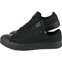 Converse Chuck Taylor All Star All Black Low OX Trainer NEW Lace Up ***