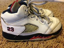 Rare Lot (2) Air Jordan V Olympics Shoes Toddler Size 8C Baby Michael vtg IV III