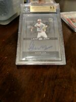 2015 Leaf Ultimate Draft Perfect Game Clear Autos Gavin Lux Dodgers RC BGS 9.5