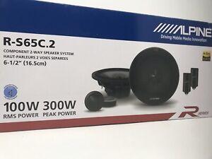 """Pair ALPINE R-S65C.2 300 Watt 6.5"""" Car Audio Component Speakers w/1"""" Tweeters"""