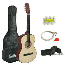 """NEW Raptor 38"""" Natural Acoustic Guitar + Accessories Combo Kit for Beginners"""