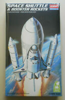 Space Shuttle w Booster Rockets Plastic 1:288 Scale Academy Snap Tite Model Kit