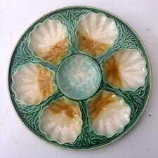 RARE Salins french majolica art nouveau Oyster fruits de mer plaque