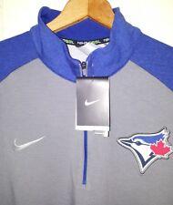 NEW MLB Toronto Blue Jays 1/2 Zip Stitched Sewn Nike Jersey Pullover Men's 2XL