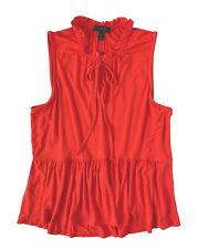 J Crew - Mujer L - Nuevo con Etiqueta - Cerise Rojo Fruncido Recortado