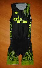 New listing Veneto Men's Black Yellow Thin Padded Sleeveless Triathlon Skinsuit Sz M Medium