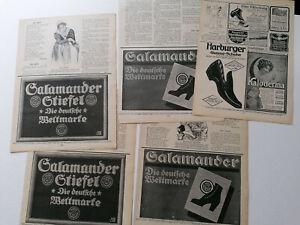 ORIGINAL Blätter Zeitschrift JUGEND Salamander Harburger Gummiwaren Keks (W380)