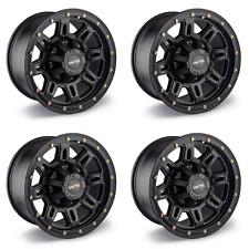 """Set Of 4 18"""" Vision 400 Incline Black Rims 18x9 6x5.5 0mm Chevy GMC Lifted 6 Lug"""