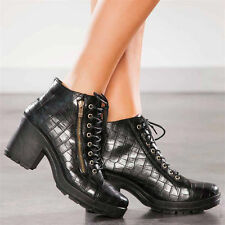 Party Pull On Synthetic Leather Ankle Boots for Women