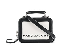 BNWT Marc Jacobs Mini Box 20 BLACK and WHITE Leather Cross-Body Bag