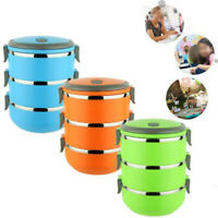 1pc 3 Layer Lunch Box For Kids Adults Food Container Set Bento Storage Boxes