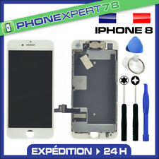 Vitre Tactile Ecran LCD complet Assemblé sur Chassis pour iPhone 8 Blanc