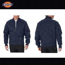 Dickies Jacket Mens Diamond Quilted Nylon Jackets 61242 knit lining Black Navy