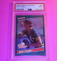 1986 Donruss Rookies #40 Eric Plunk RC Graded PSA 9 MINT Rookie SET BREAK