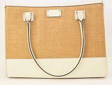 Kate Spade NEW Daisy Wellesley Straw Tote Bag MSRP $358 WKRU1890 Nat/Porcel