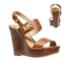 Michael Kors Mk женские каблуки Дина кожаных сумок на танкетке сандалии 49 T 9 dnha 1 л