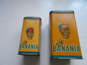 lot 2 boites BANANIA      infusion 500 gr   café 1 kg bon état  voir photos