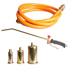 Propane Weed Torch Fire Burner Lawn Ice Melter With60 Hose 3nozzles Portable