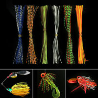 40 strand Mixed Color 13cm Silicone Skirts for Spinnerbait Jig Lures Squid Skirt