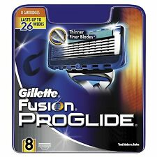 Hojas de afeitar de Gillette Fusion Proglide 8 Pack 100% Genuino